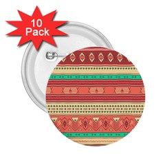 Hand Drawn Ethnic Shapes Pattern 2 25  Buttons (10 Pack)