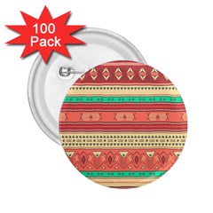 Hand Drawn Ethnic Shapes Pattern 2 25  Buttons (100 Pack)