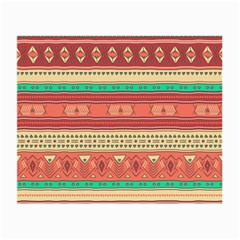Hand Drawn Ethnic Shapes Pattern Small Glasses Cloth