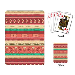 Hand Drawn Ethnic Shapes Pattern Playing Card