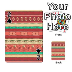 Hand Drawn Ethnic Shapes Pattern Playing Cards 54 Designs