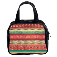Hand Drawn Ethnic Shapes Pattern Classic Handbags (2 Sides)