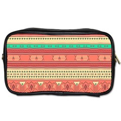 Hand Drawn Ethnic Shapes Pattern Toiletries Bags 2-Side