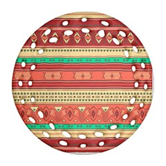 Hand Drawn Ethnic Shapes Pattern Ornament (Round Filigree)