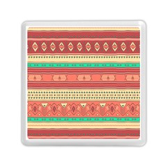 Hand Drawn Ethnic Shapes Pattern Memory Card Reader (Square)