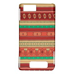 Hand Drawn Ethnic Shapes Pattern Motorola DROID X2