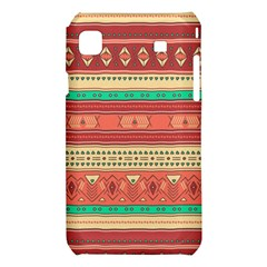 Hand Drawn Ethnic Shapes Pattern Samsung Galaxy S i9008 Hardshell Case
