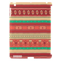 Hand Drawn Ethnic Shapes Pattern Apple iPad 3/4 Hardshell Case (Compatible with Smart Cover)