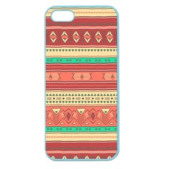 Hand Drawn Ethnic Shapes Pattern Apple Seamless iPhone 5 Case (Color)