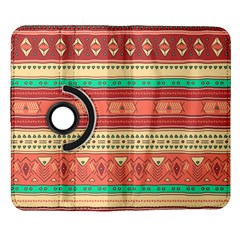 Hand Drawn Ethnic Shapes Pattern Samsung Galaxy Note II Flip 360 Case
