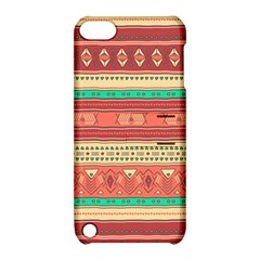 Hand Drawn Ethnic Shapes Pattern Apple iPod Touch 5 Hardshell Case with Stand
