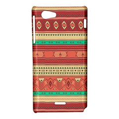 Hand Drawn Ethnic Shapes Pattern Sony Xperia J