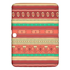 Hand Drawn Ethnic Shapes Pattern Samsung Galaxy Tab 3 (10.1 ) P5200 Hardshell Case