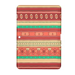 Hand Drawn Ethnic Shapes Pattern Samsung Galaxy Tab 2 (10.1 ) P5100 Hardshell Case