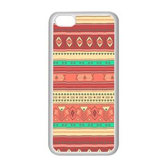 Hand Drawn Ethnic Shapes Pattern Apple iPhone 5C Seamless Case (White)
