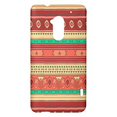 Hand Drawn Ethnic Shapes Pattern HTC One Max (T6) Hardshell Case