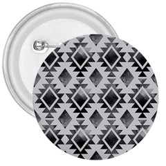 Hand Painted Black Ethnic Pattern 3  Buttons