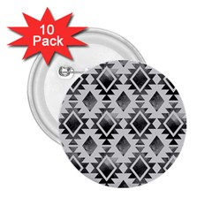 Hand Painted Black Ethnic Pattern 2.25  Buttons (10 pack)