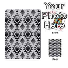 Hand Painted Black Ethnic Pattern Multi-purpose Cards (Rectangle)