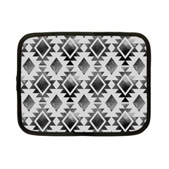 Hand Painted Black Ethnic Pattern Netbook Case (Small)