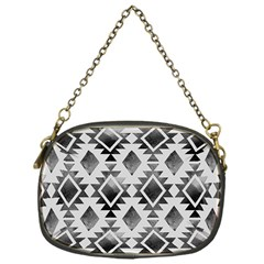 Hand Painted Black Ethnic Pattern Chain Purses (One Side)