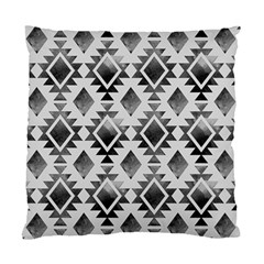 Hand Painted Black Ethnic Pattern Standard Cushion Case (Two Sides)