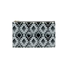 Hand Painted Black Ethnic Pattern Cosmetic Bag (Small)