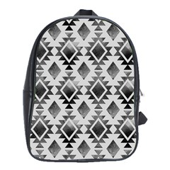 Hand Painted Black Ethnic Pattern School Bags(Large)