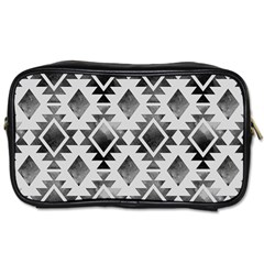 Hand Painted Black Ethnic Pattern Toiletries Bags