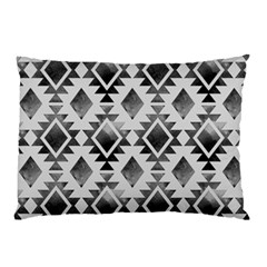 Hand Painted Black Ethnic Pattern Pillow Case (Two Sides)