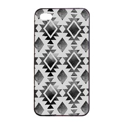 Hand Painted Black Ethnic Pattern Apple iPhone 4/4s Seamless Case (Black)
