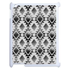 Hand Painted Black Ethnic Pattern Apple iPad 2 Case (White)