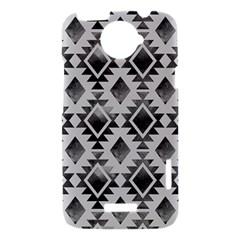 Hand Painted Black Ethnic Pattern HTC One X Hardshell Case