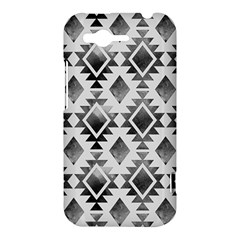 Hand Painted Black Ethnic Pattern HTC Rhyme