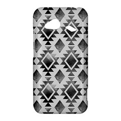 Hand Painted Black Ethnic Pattern HTC Droid Incredible 4G LTE Hardshell Case