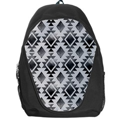Hand Painted Black Ethnic Pattern Backpack Bag