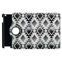 Hand Painted Black Ethnic Pattern Apple iPad 2 Flip 360 Case