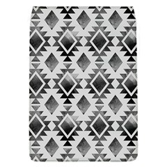 Hand Painted Black Ethnic Pattern Flap Covers (L)