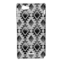 Hand Painted Black Ethnic Pattern Sony Xperia J