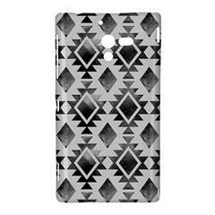 Hand Painted Black Ethnic Pattern Sony Xperia ZL (L35H)