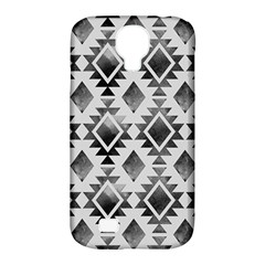 Hand Painted Black Ethnic Pattern Samsung Galaxy S4 Classic Hardshell Case (pc+silicone)