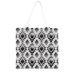 Hand Painted Black Ethnic Pattern Grocery Light Tote Bag