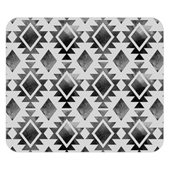 Hand Painted Black Ethnic Pattern Double Sided Flano Blanket (Small)
