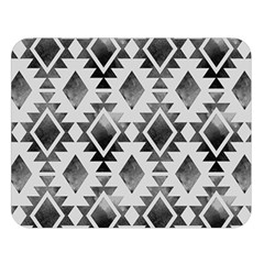Hand Painted Black Ethnic Pattern Double Sided Flano Blanket (large)