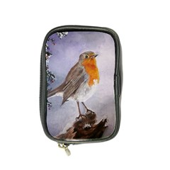 Robin On Log Coin Purse