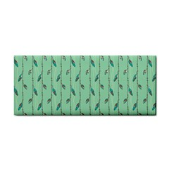 Seamless Lines And Feathers Pattern Hand Towel