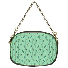 Seamless Lines And Feathers Pattern Chain Purses (Two Sides)