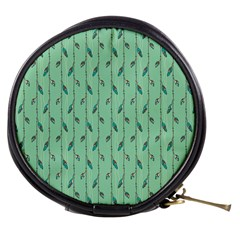 Seamless Lines And Feathers Pattern Mini Makeup Bags