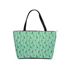Seamless Lines And Feathers Pattern Shoulder Handbags