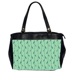 Seamless Lines And Feathers Pattern Office Handbags (2 Sides)